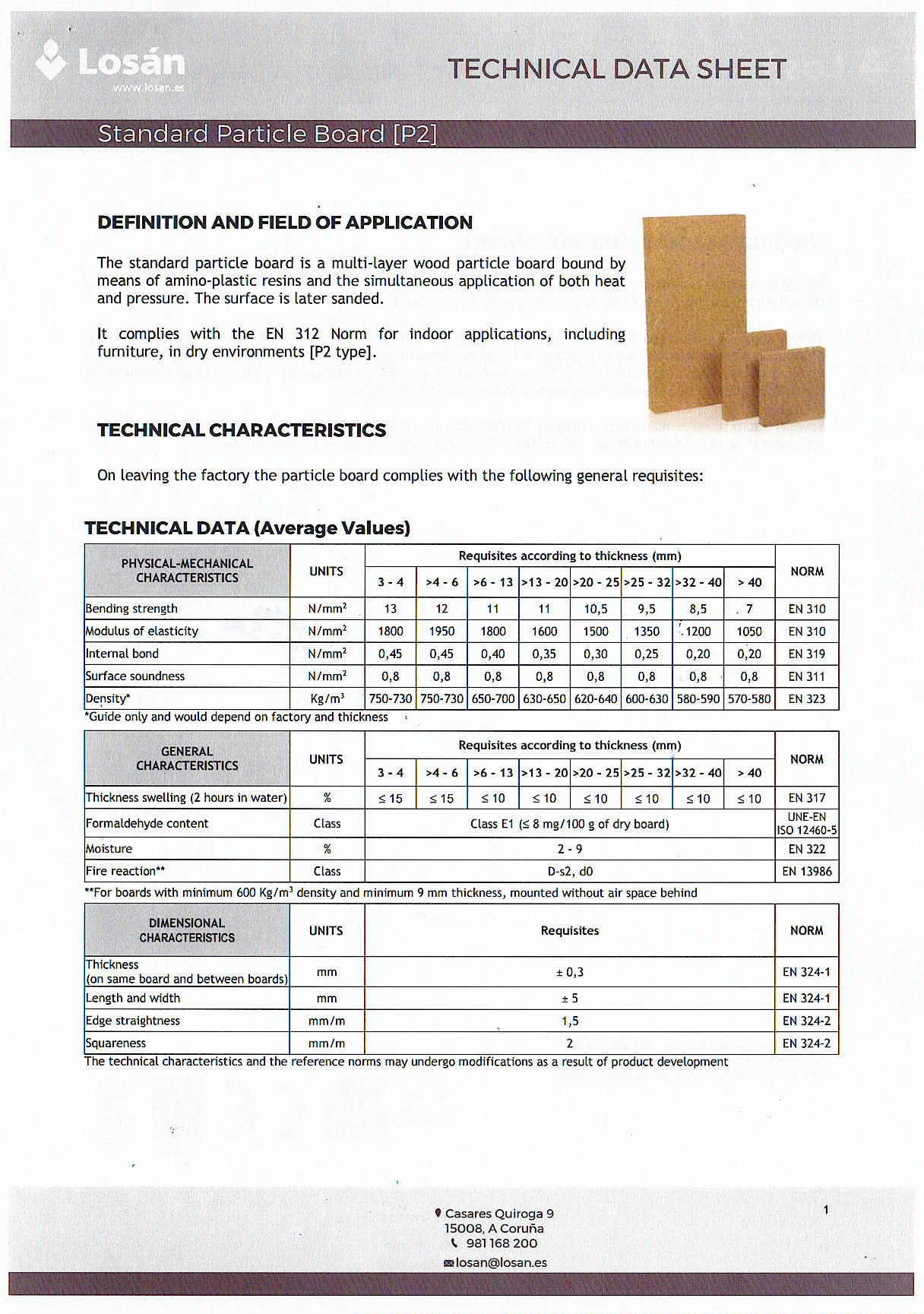 Data Sheet (Spanish Particle Board P2 Type)_Page_1